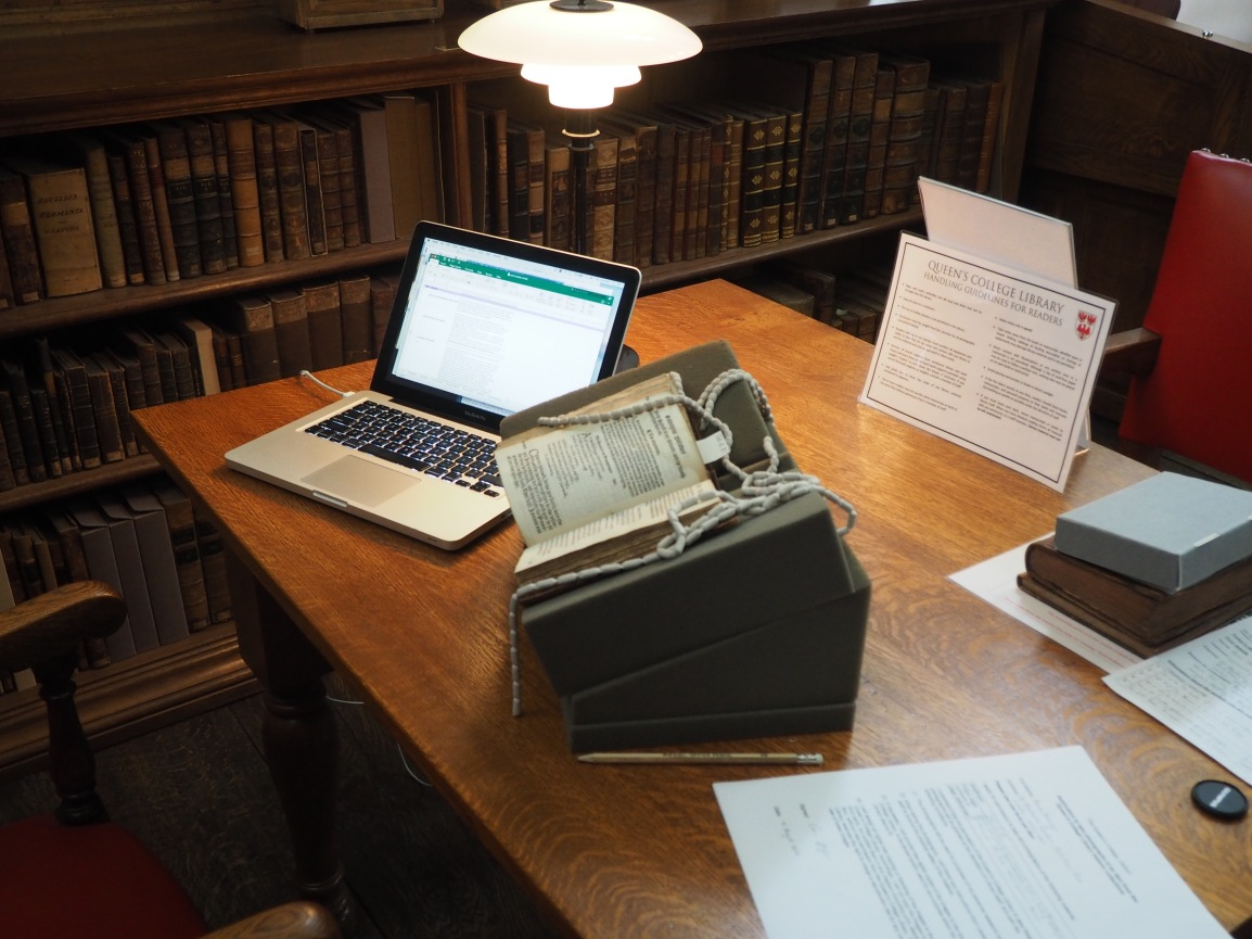 Music and Print Culture: Summer Research at New College, Oxford.