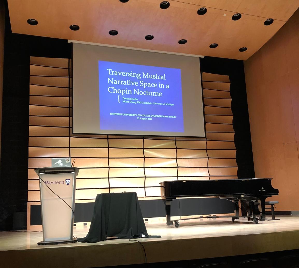 Dorian Mueller presents at Western University GraduateSymposium