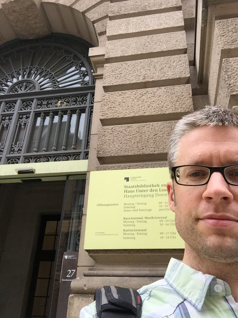 William van Geest conducts dissertation research in Germany