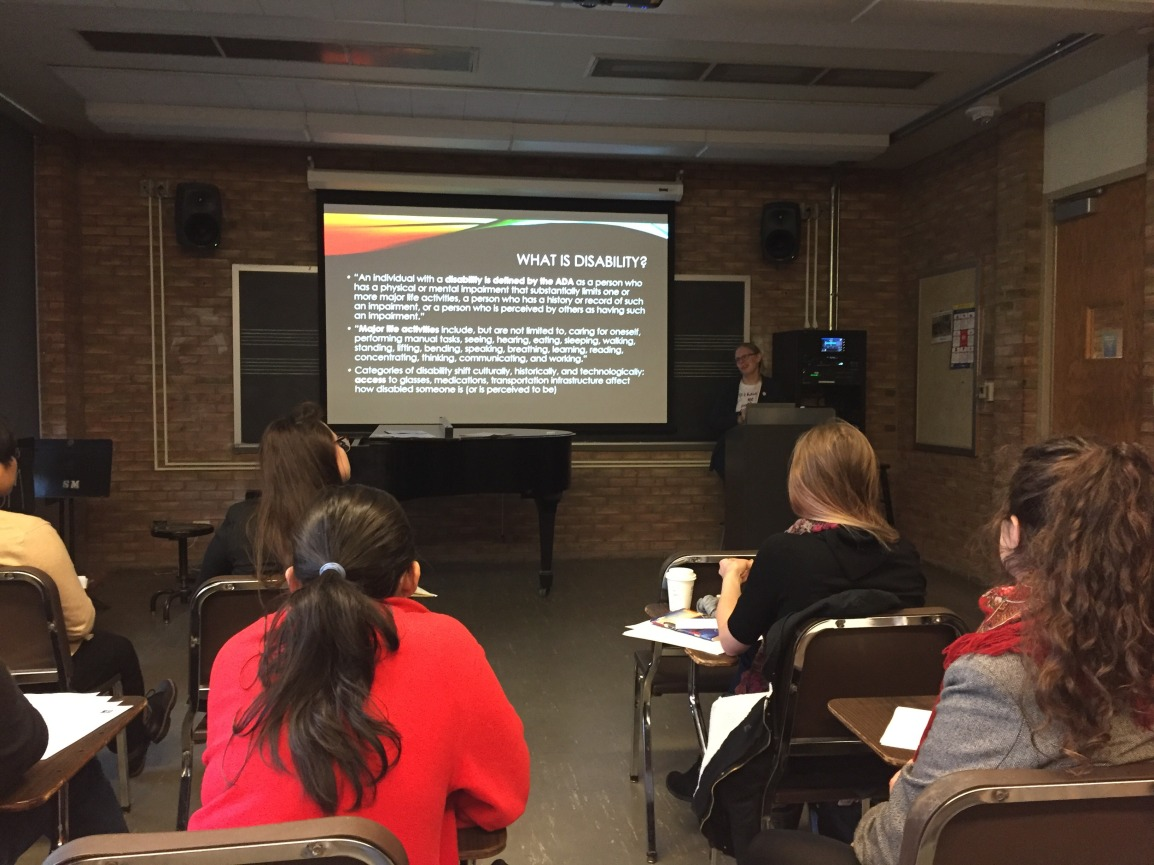 Elizabeth McLain leads training sessions on Disability and Universal Design forlearning